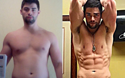 Male 20-30 Body Transformations