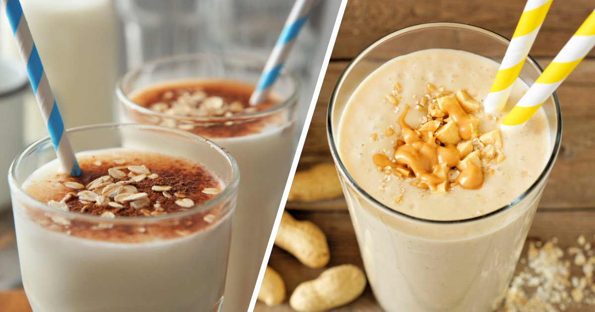 Delicious vanilla weight gainer shakes