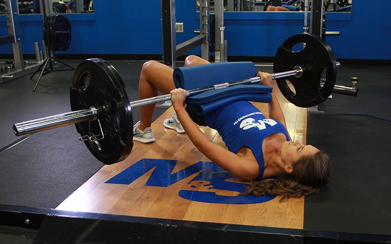 Barbell Glute Bridge Video Exercise Guide Amp Tips