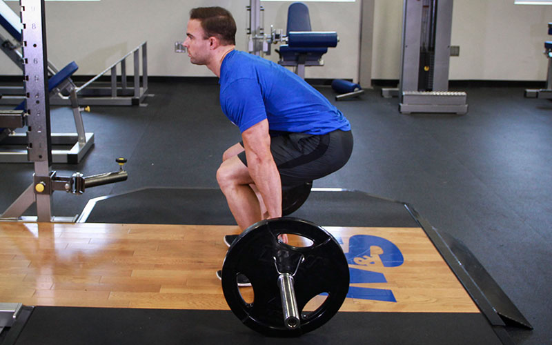 Barbell hack squat video exercise guide tips