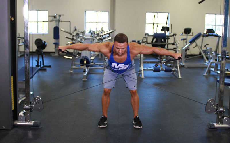 Bent Over Low Pulley Rear Delt Fly Video Exercise Guide