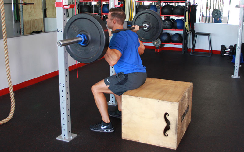 Box Squat Video Exercise Guide Amp Tips