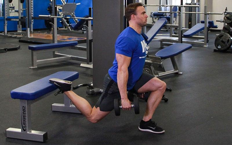 One Leg Dumbbell Squat (AKA Dumbbell Bulgarian Split Squat ...