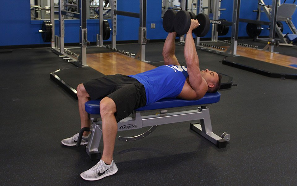 Close Grip Dumbbell Press Aka Crush Press Video Exercise Guide Tips