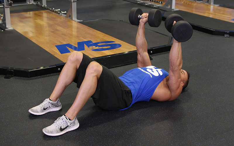 Dumbbell Floor Press: Video Exercise