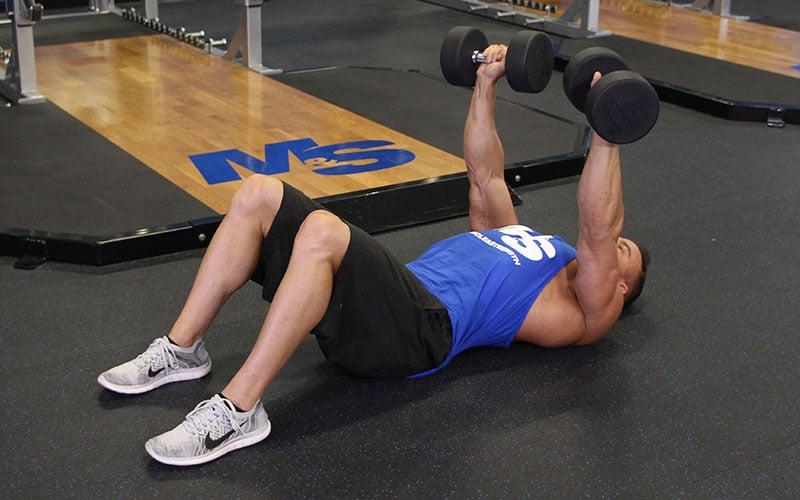 Dumbbell Floor Press: Video Exercise Guide & Tips
