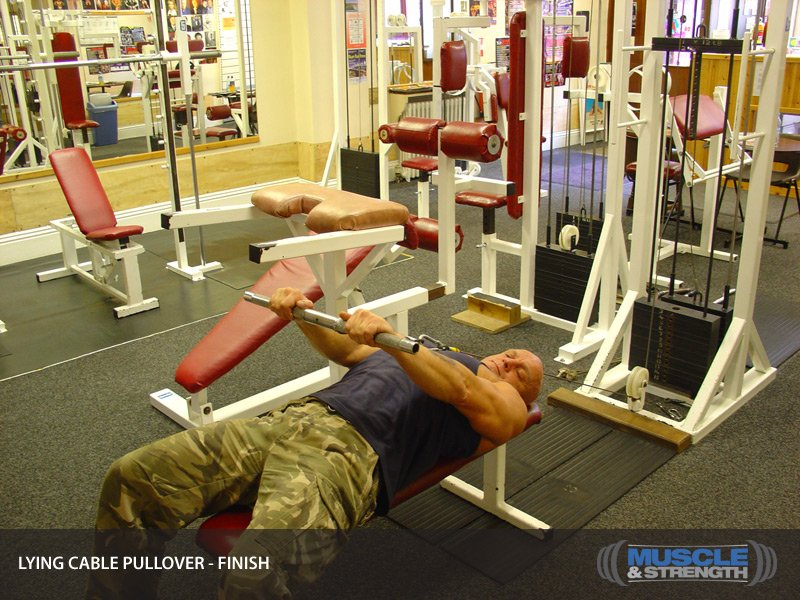 Lying Cable Pullover Video Exercise Guide Tips