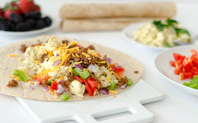 High Protein Epic Breakfast Burrito Recipe