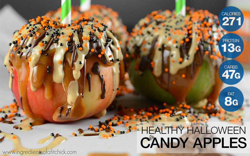 Healthy Chocolate Peanut Butter Caramel Apples Recipe