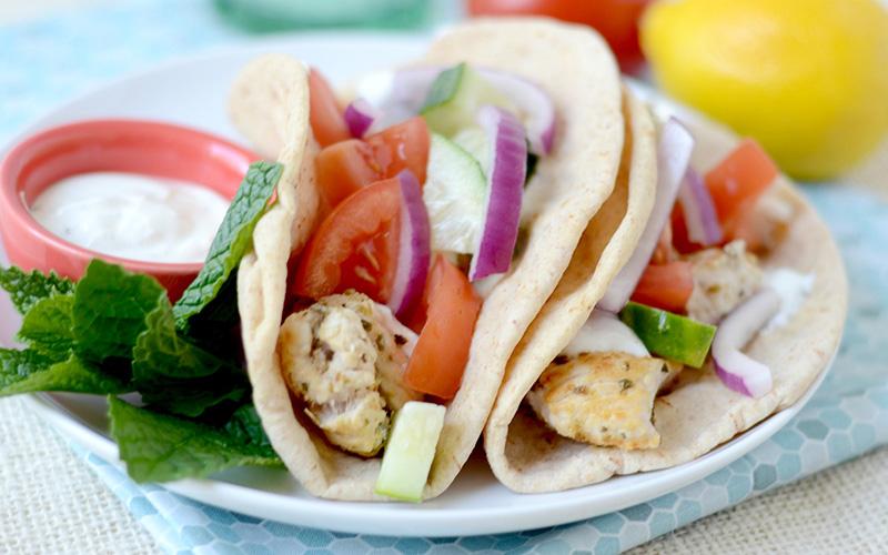 High-Protein Grilled Chicken Gyros Recipe