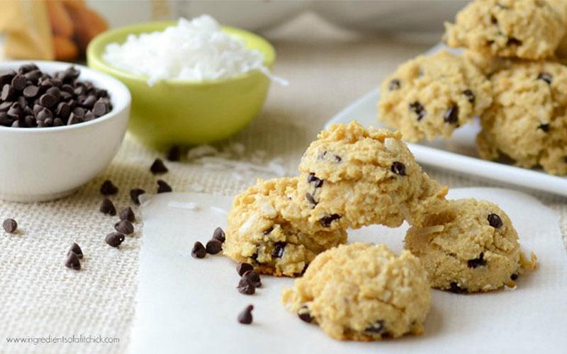 Mini Coconut Chocolate Chip Protein Cookies Recipe