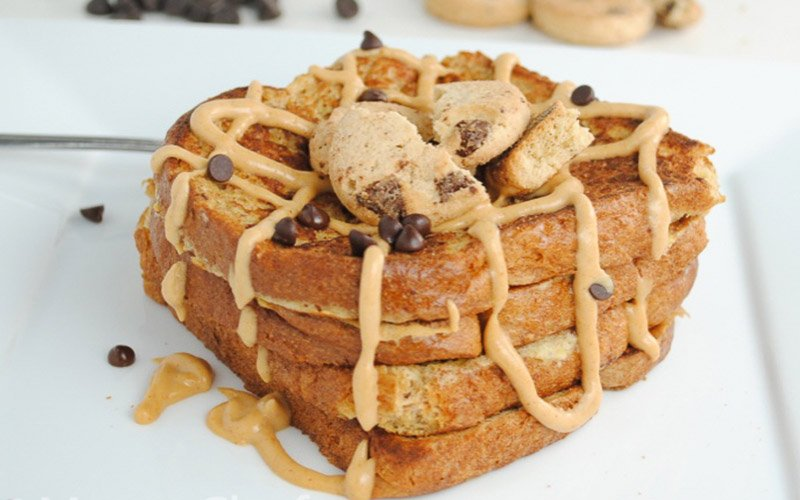 Peanut Butter Chocolate Chip Protein French Toast