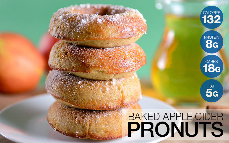 Baked Apple Cider Pronuts (Protein Donuts) Recipe