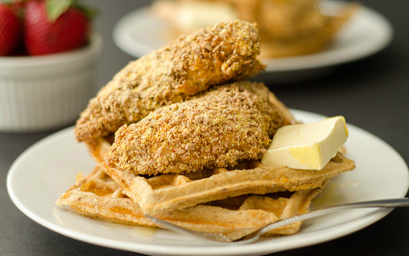 Protein Chicken & Waffles Recipe