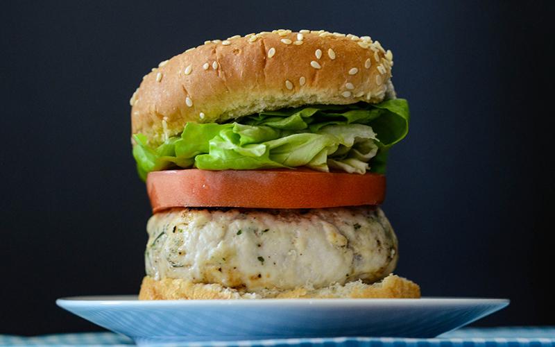 High Protein Ranch Turkey Burger Recipe