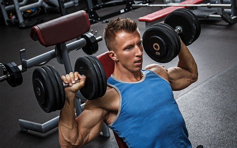 Fit Man Dumbbell Workout