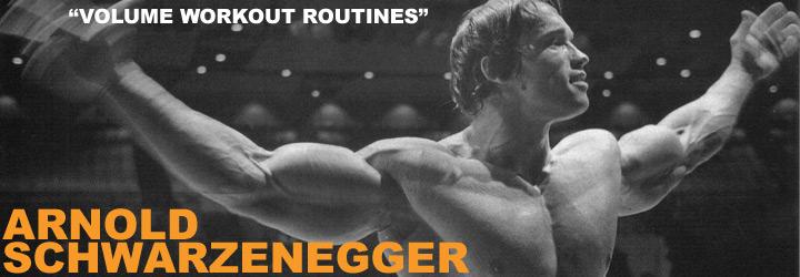 Arnold Schwarzenegger Volume Workout Routines