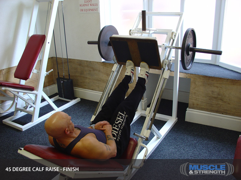 45 Degree Calf Raise Video Exercise Guide Amp Tips Muscle