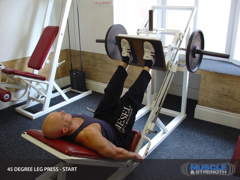 45 Degree Leg Press: Video Exercise Guide & Tips