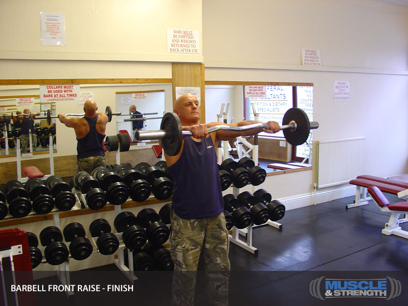 Barbell Front Raise Video Exercise Guide Amp Tips Muscle