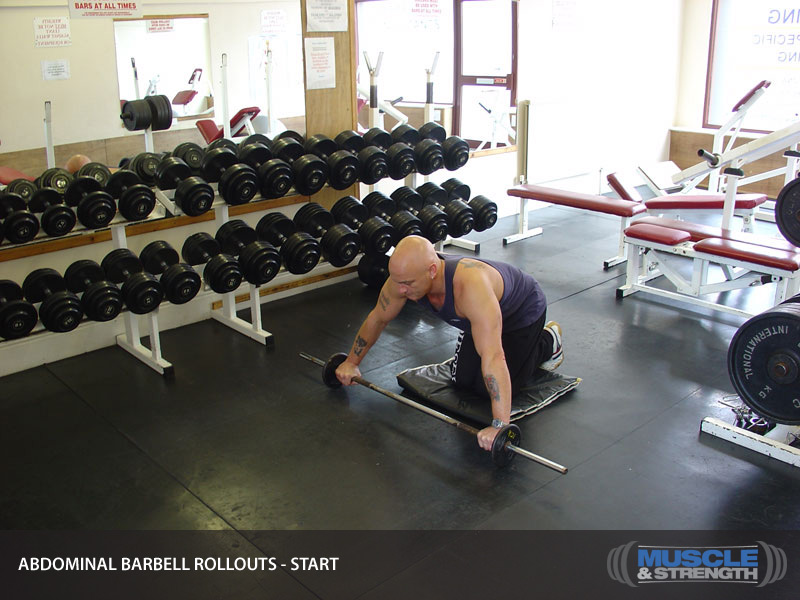 Abdominal Barbell Rollouts Video Exercise Guide Amp Tips
