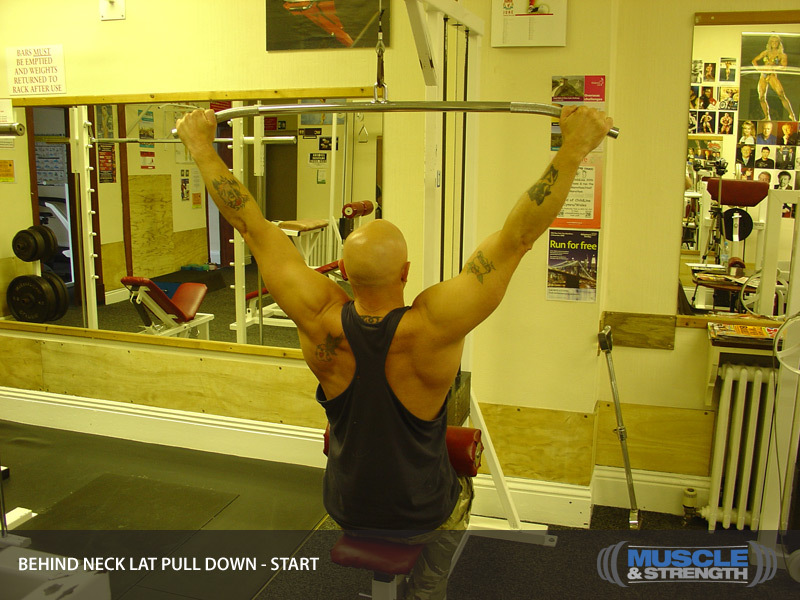 Behind Neck Lat Pull Down Video Exercise Guide Amp Tips