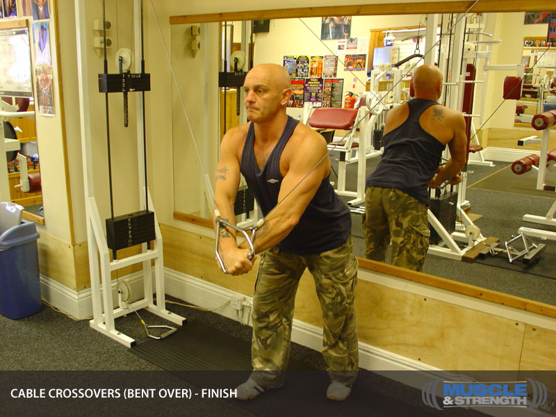 Cable Crossovers Bent Over Video Exercise Guide Amp Tips Muscle Amp Strength