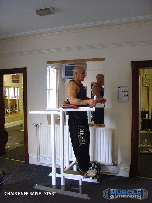 Roman Chair Knee Raise Video Exercise Guide Amp Tips