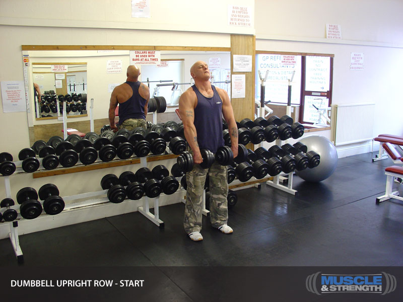 Dumbbells For Sale >> Dumbbell Upright Row Video Exercise Guide & Tips | Muscle & Strength