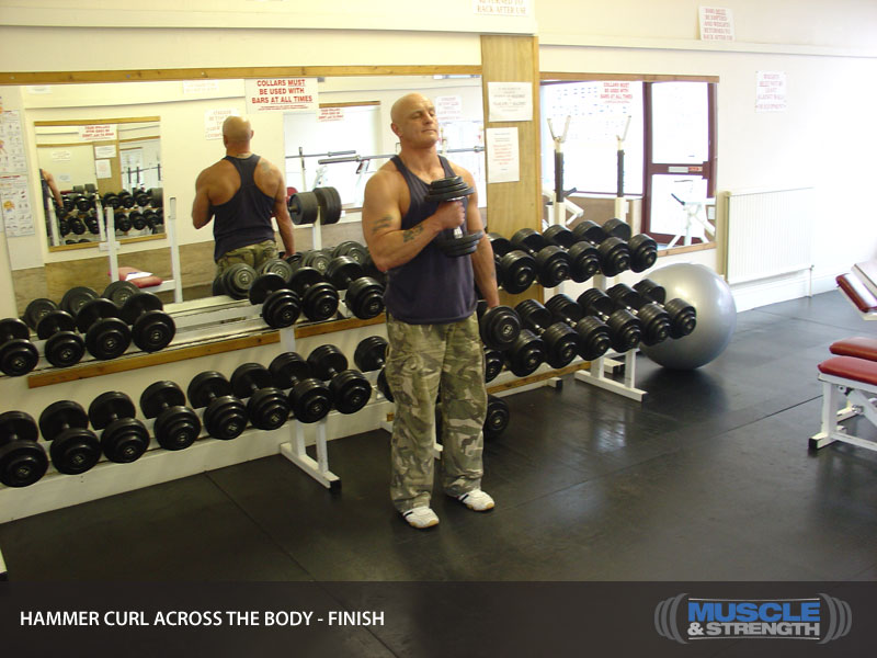 Hammer Curl Across The Body Aka Pinwheel Curls Video Exercise Guide Amp Tips Muscle Amp Strength