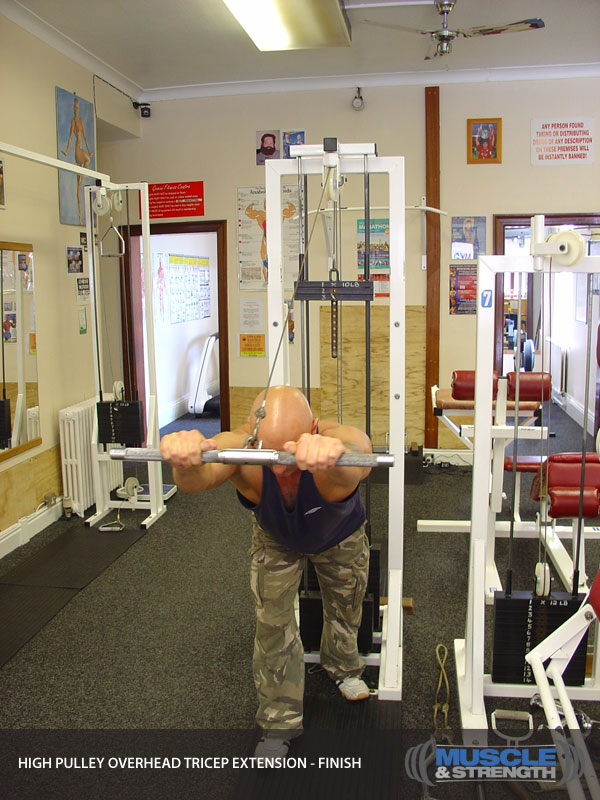 High Pulley Overhead Tricep Extension: Video Exercise ...