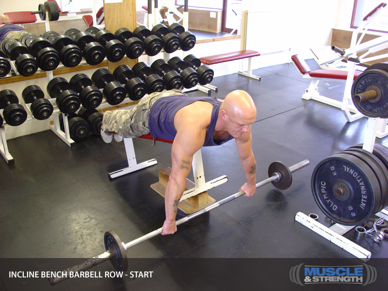 Incline Bench Barbell Row Video Exercise Guide Amp Tips