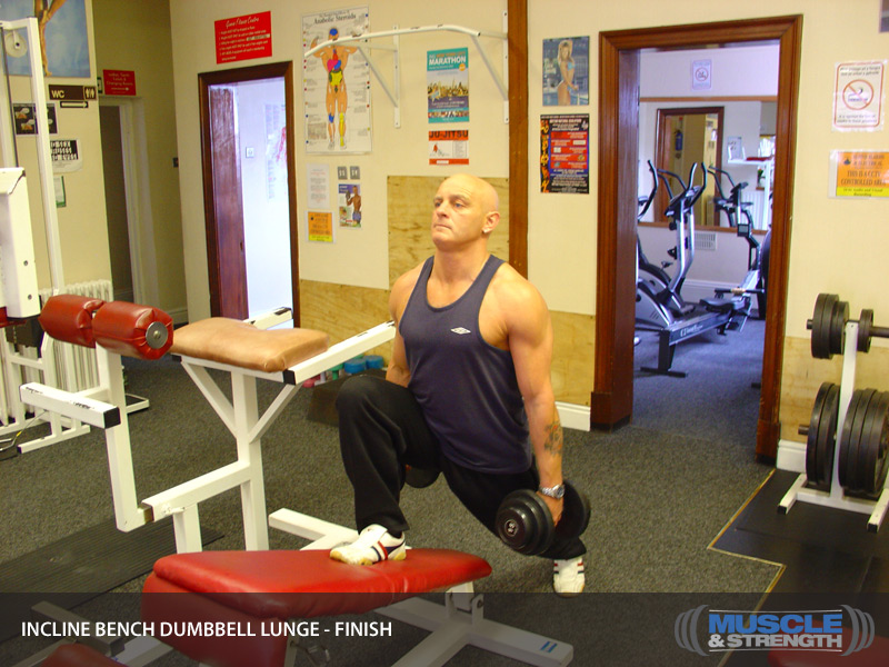 dumbbell lunge how to hold