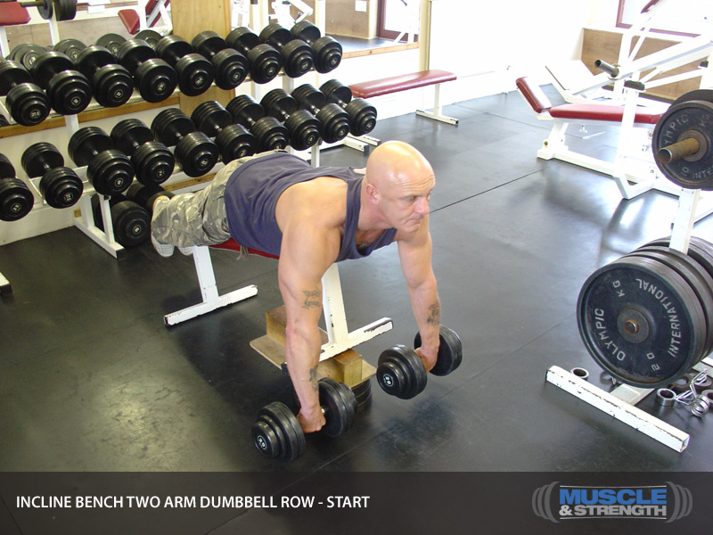 Incline Bench Two Arm Dumbbell Row Video Exercise Guide