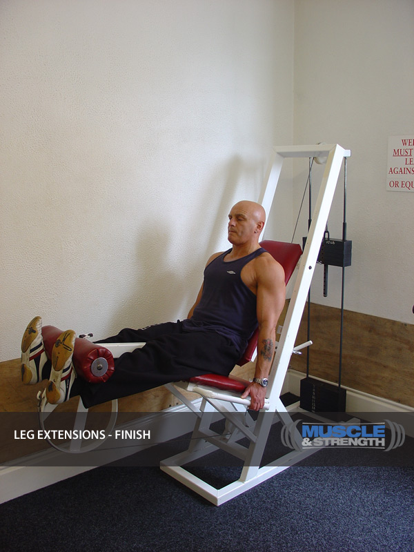Leg Extension Video Exercise Guide & Tips | Muscle & Strength
