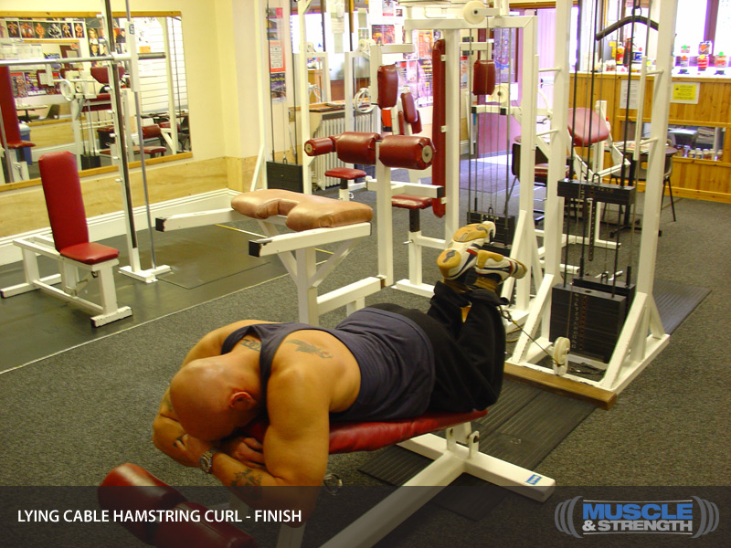 Lying Cable Hamstring Curl Video Exercise Guide Amp Tips