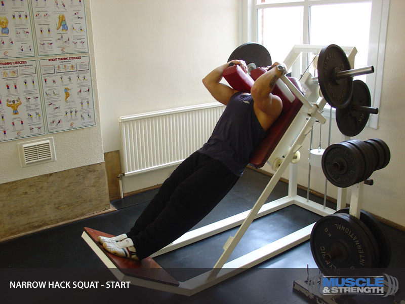 Narrow Hack Squat Video Exercise Guide Amp Tips
