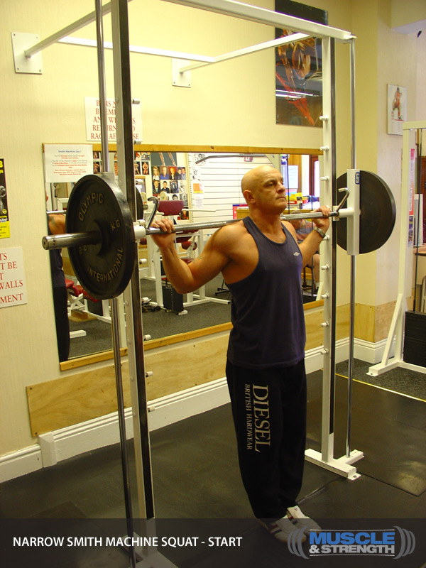 Narrow Smith Machine Squat Video Exercise Guide Amp Tips