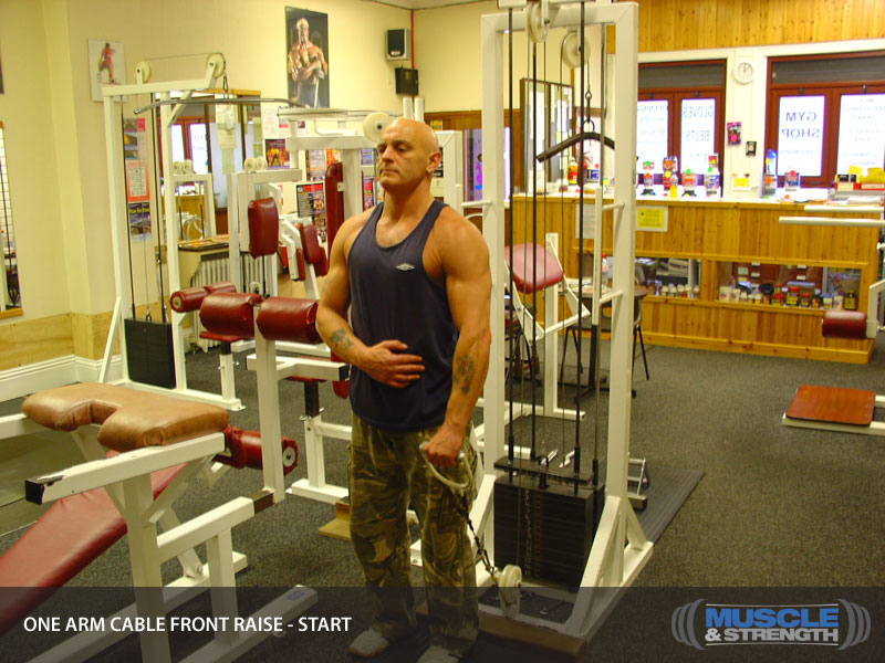 One Arm Cable Front Raise Video Exercise Guide Amp Tips