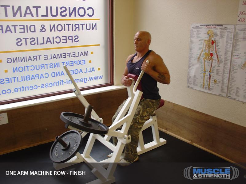 one arm row machine