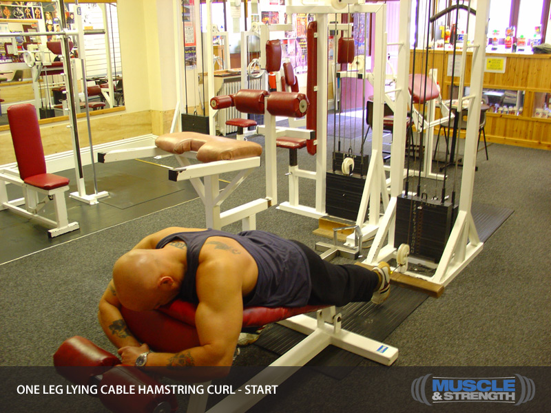 One Leg Lying Cable Hamstring Curl: Video Exercise Guide ...