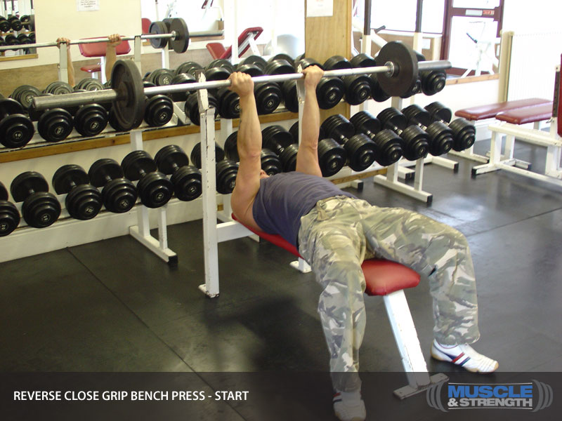 Reverse Grip Close Grip Bench Press Video Exercise Guide Tips