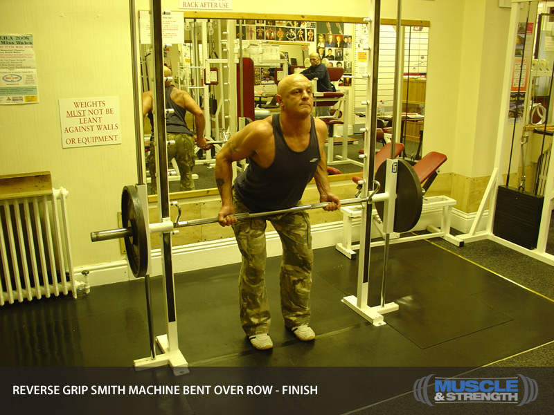 smith machine barbell row