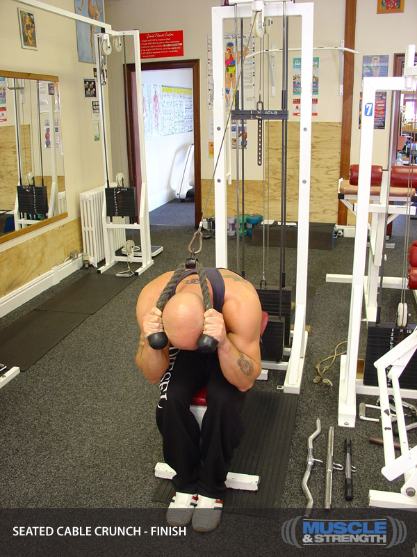 Kneeling Cable Crunch With Alternating Oblique Twists Exercise ...
