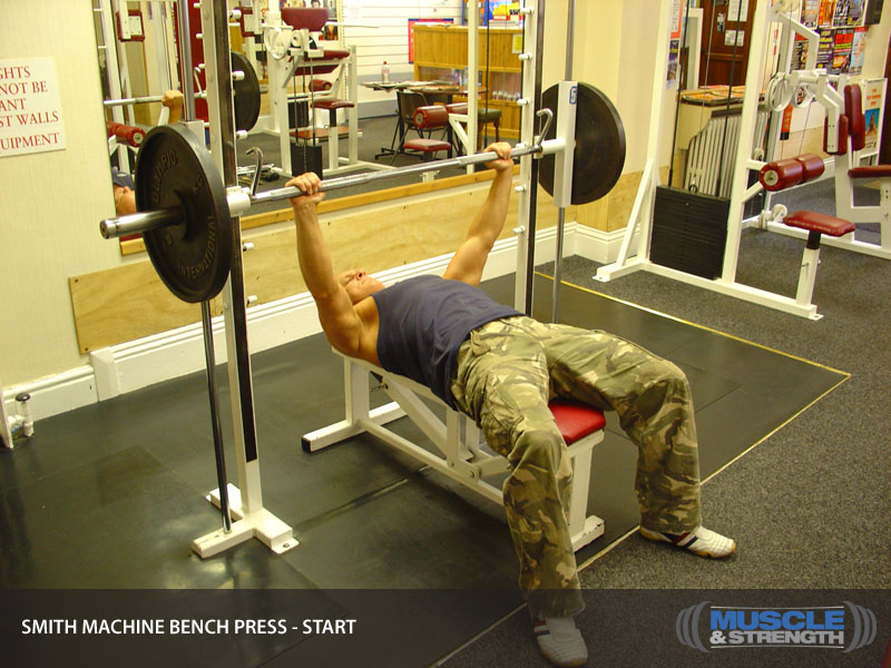 Smith Machine Bench Press Video Exercise Guide Amp Tips
