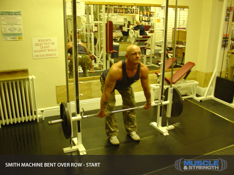 barbell row smith machine