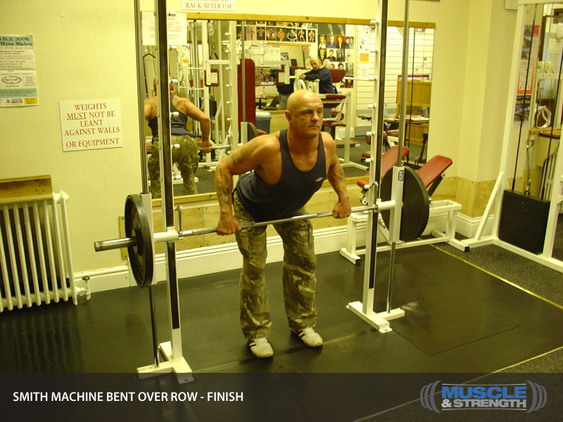 smith machine bent rows