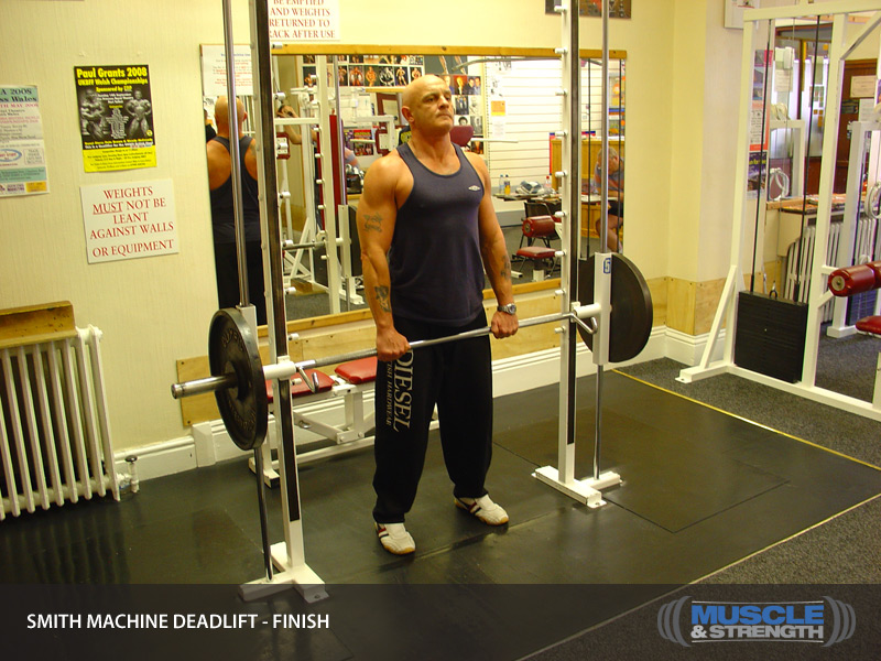 deadlift with smith machine