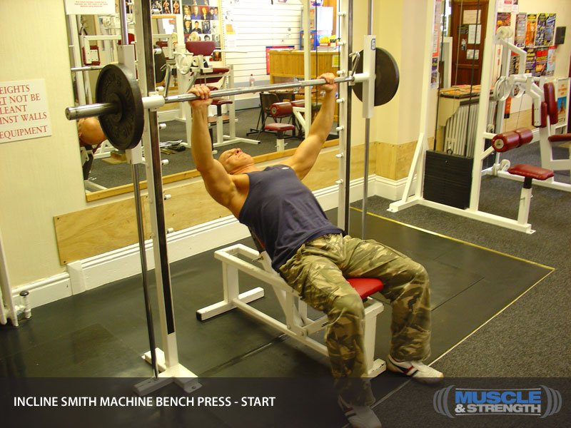 incline smith machine bench press video exercise guide tips