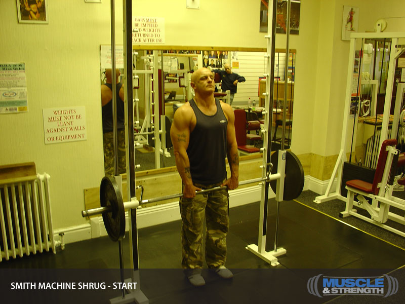 Smith Machine Shrug Video Exercise Guide Amp Tips